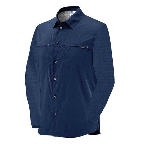 Camisa-Salomon-Strech-LS-Manga-Larga-Trekking-Urbano-Hombre-Midnight-Blue-S62739
