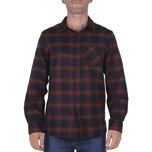 Camisa-Rip-Curl-Flanel-Check-This-Urbano-Hombre-Black-Red-02018-F9