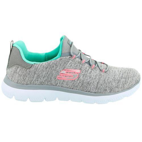 Zapatillas-Skechers-Summit-Quick-Getaway-Running-Mujer-Gray-Mint-12983-GYMN