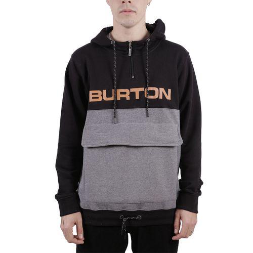 Buzo-Burton-Big-Half-Pullover-Urbano-Hombre-Black-Dark-Grey-Heather-B1BBIGHAHOOBD